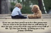 Birthday Quotes for younger Son