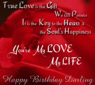 Birthday Quotes for your Love