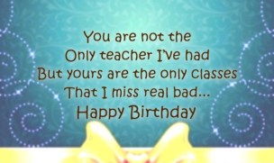 Special Birthday Quotes for Teacher