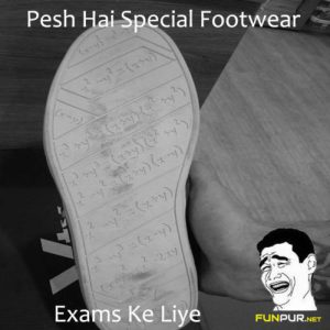Special Footwear For Exams