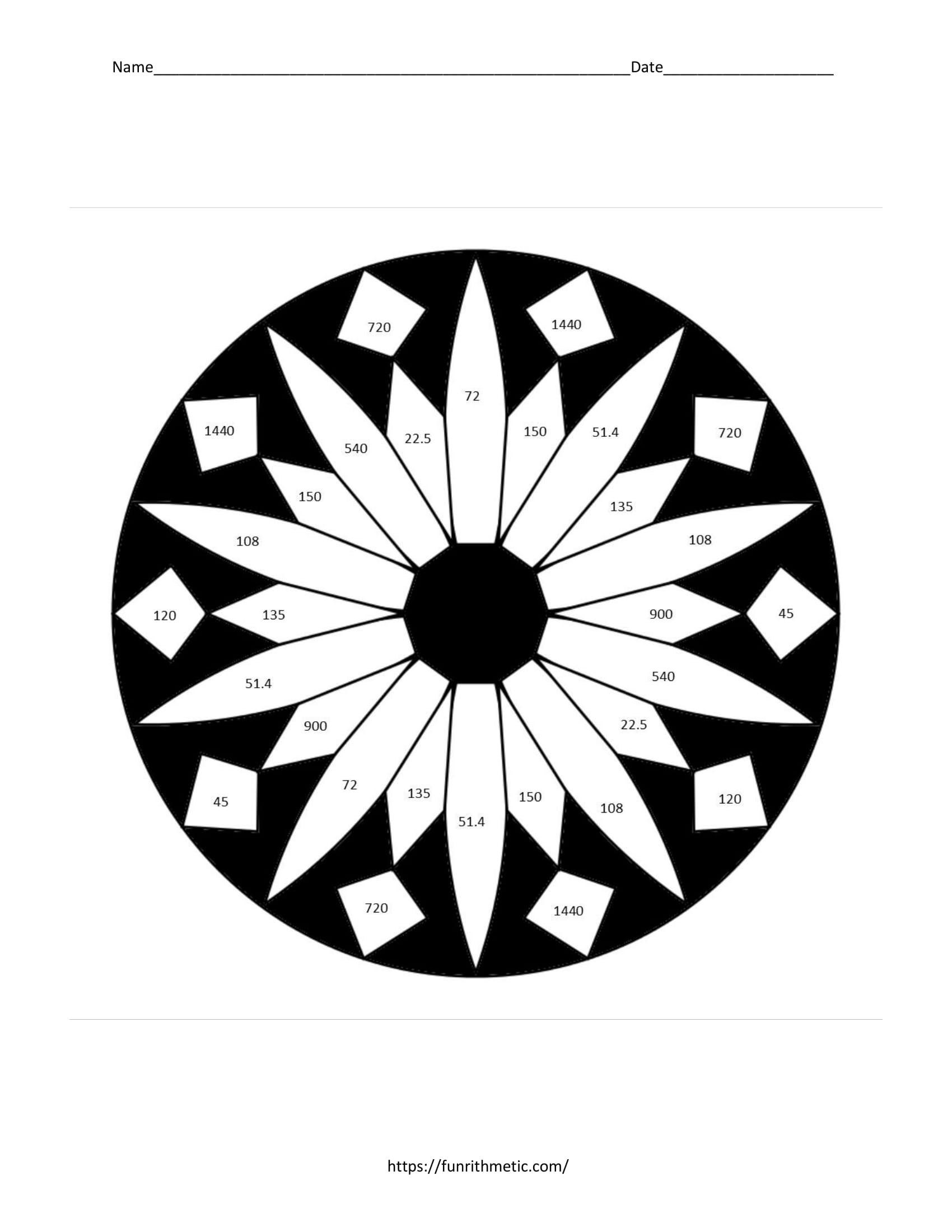 Geometry Skills Color By Number Bundle 3: …More Skills