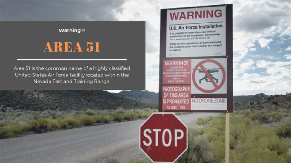 Area 51 : Area 51 is the common name of a highly classified United States Air Force facility located within the Nevada Test and Training Range.