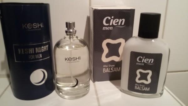 Cien Aftershave Balsam und KeSHI Night for men