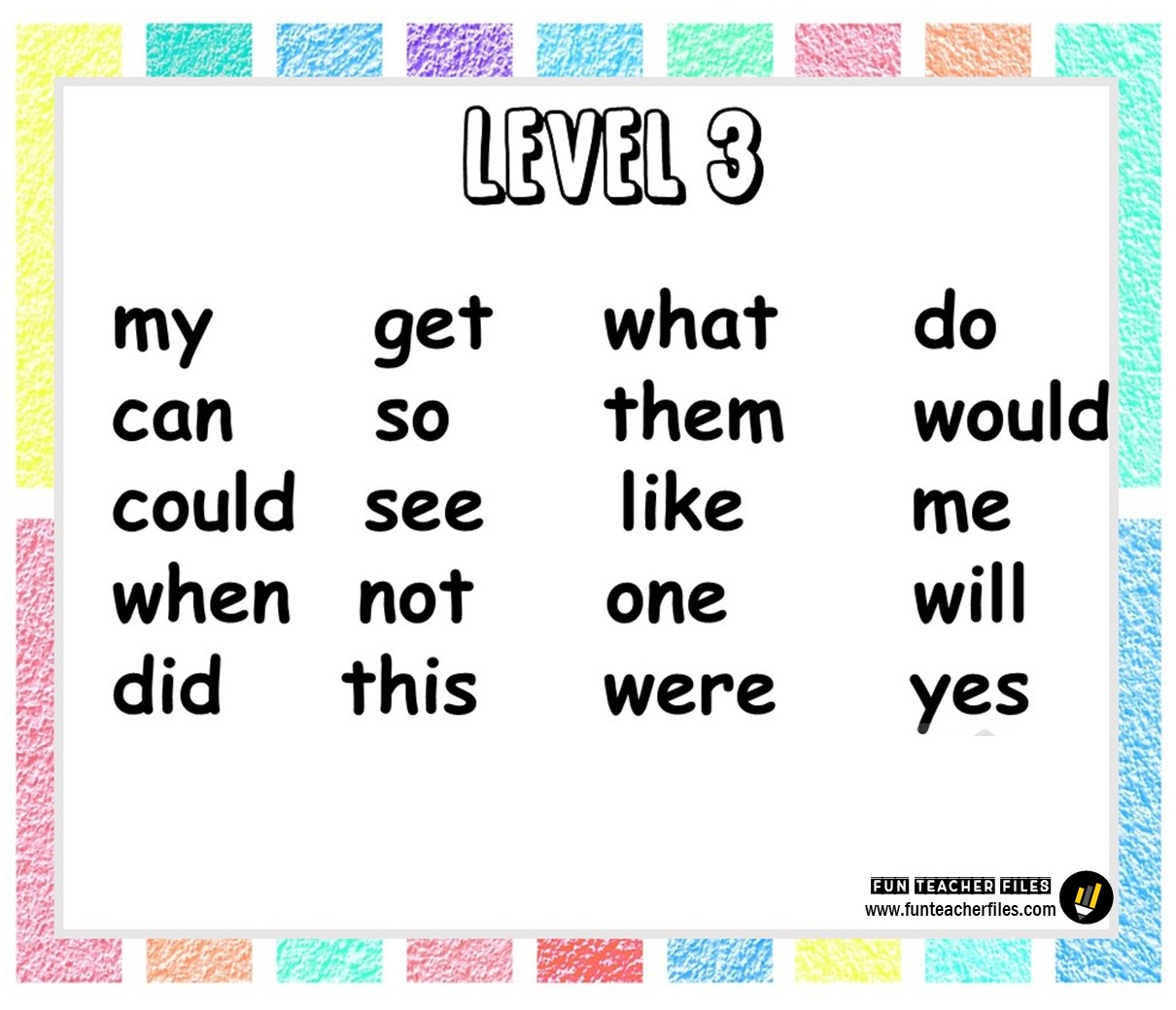 Basic Sight Words In Different Levels