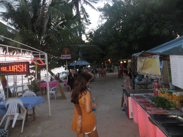 Alona Strip at night