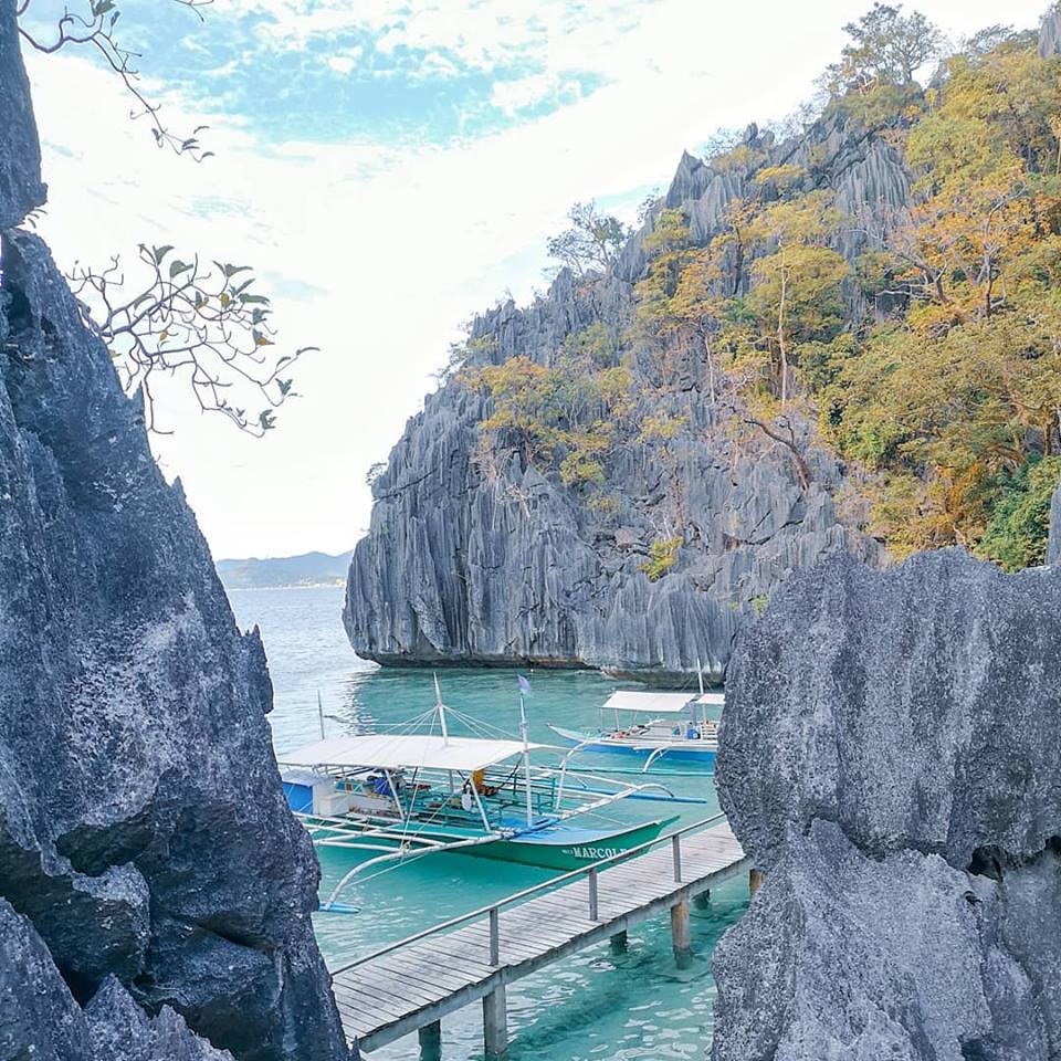 Barracuda Lake Coron Palawan.
