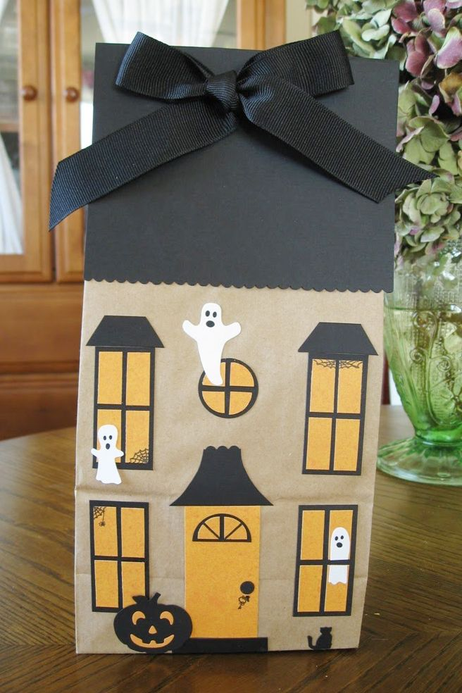Haunted House Paper Bag Halloween Kids Craft