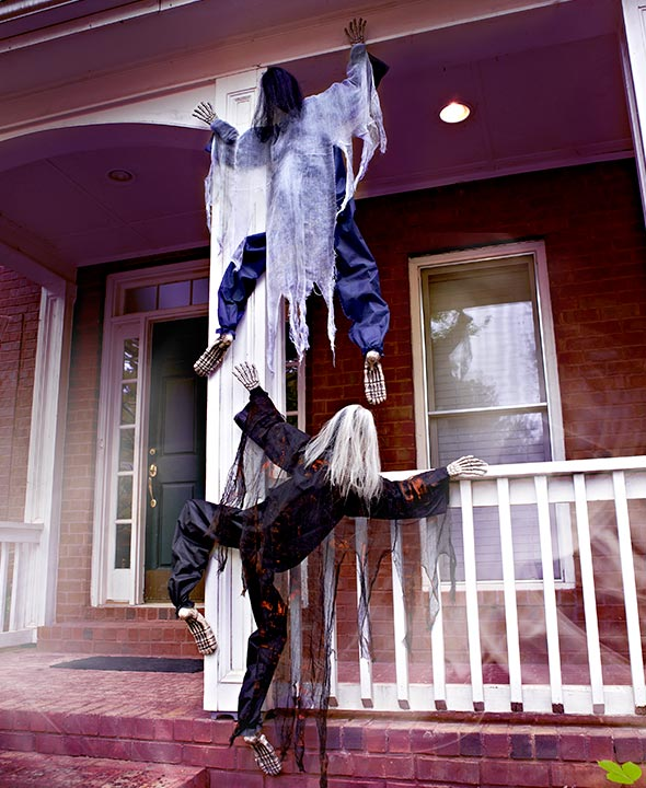 Life-Size Climbing Zombies for Halloween Decoration