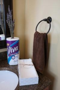 Having guests? Use Viva®Vantage® as fingertip towles in the bathroom!