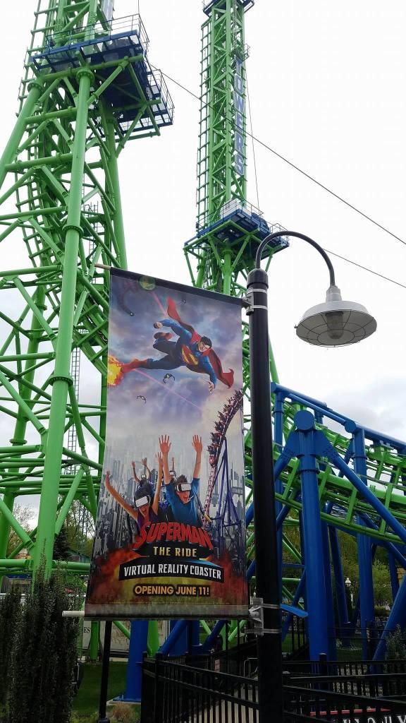 Super Man The Rida Vorual Reality Coaster