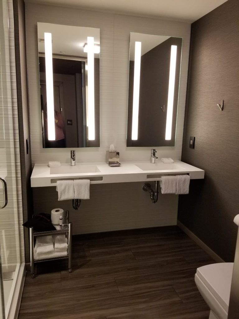 Bathroom in 1 Bedroom Suite AC Hotel Cambridge