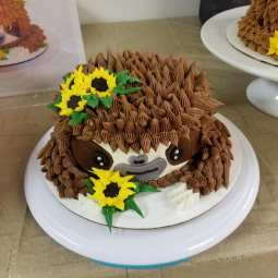 Let's Cake Decorate Sloth Cake