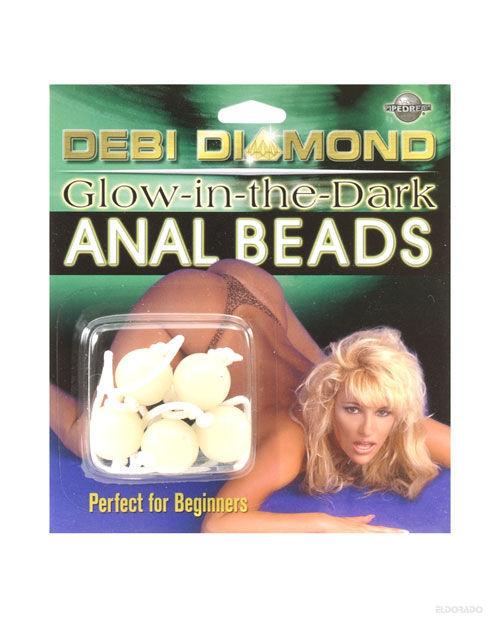 Debi diamond anal beads - glow in the dark