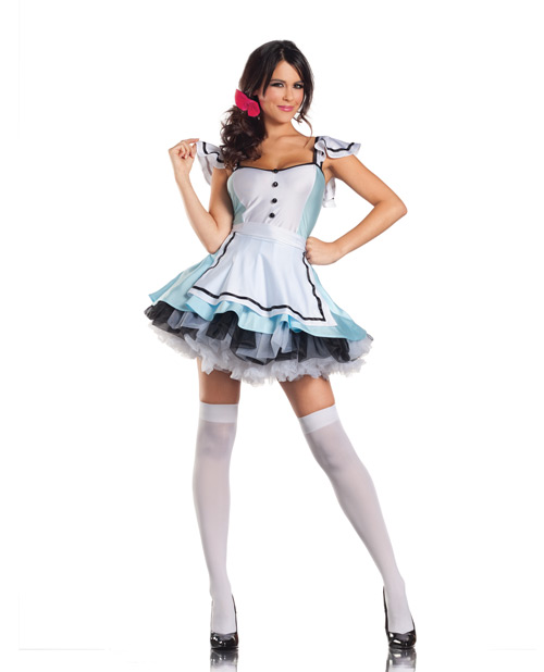 alice in wonderland dress, apron & bow