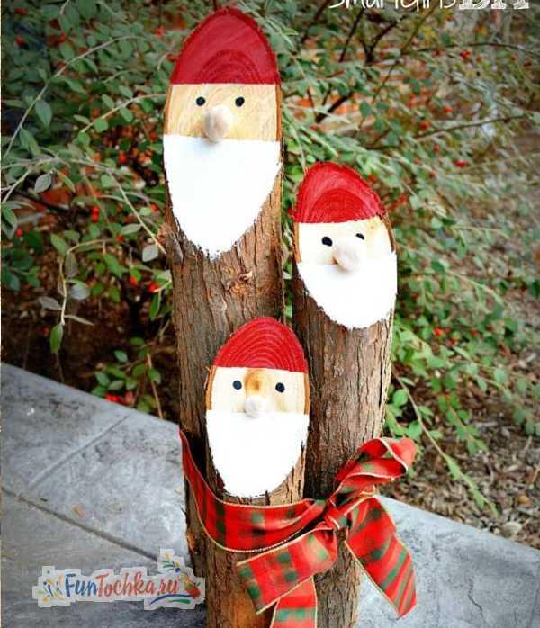 уличные украшения на новый год своими руками фото