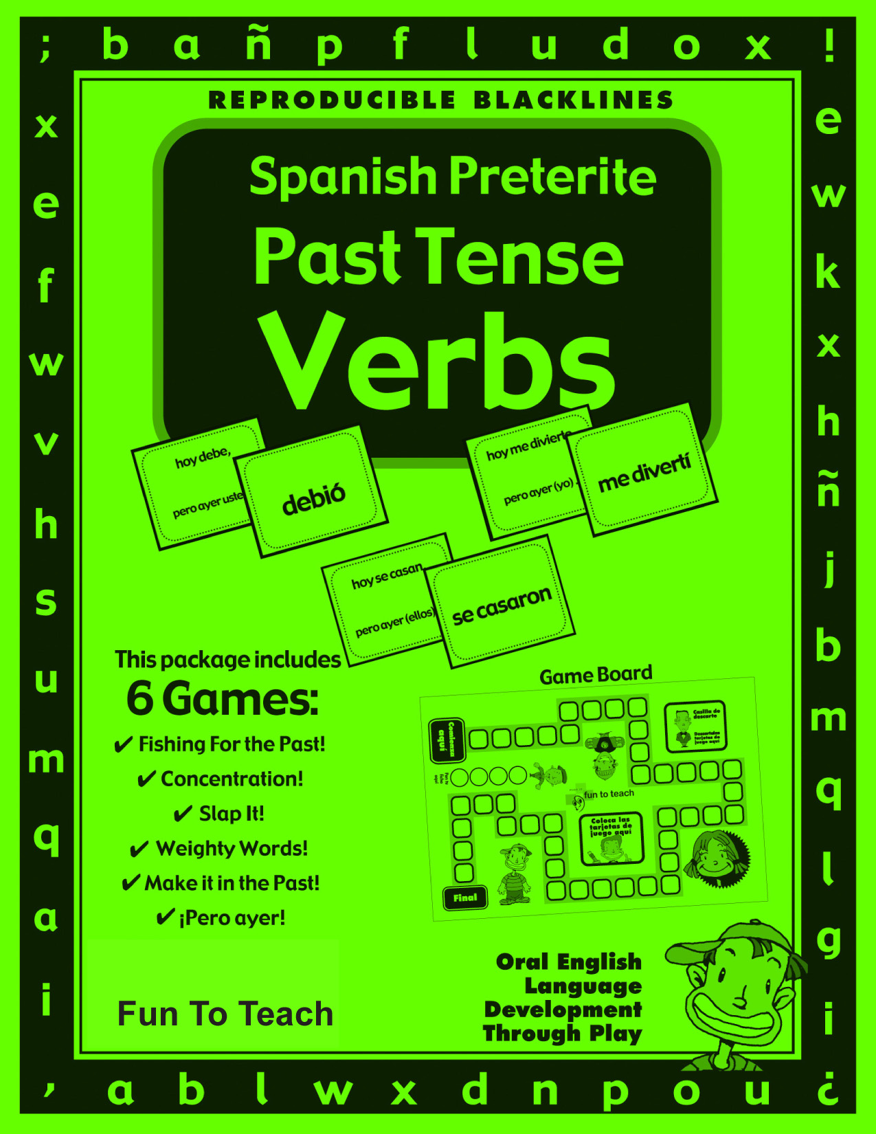 Spanish Preterite Past Tense Verbs Games And Lesson Plans