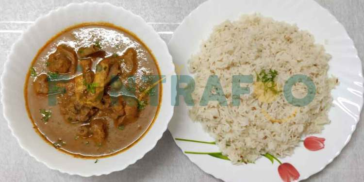Chicken Korma Recipe with Jeera Rice