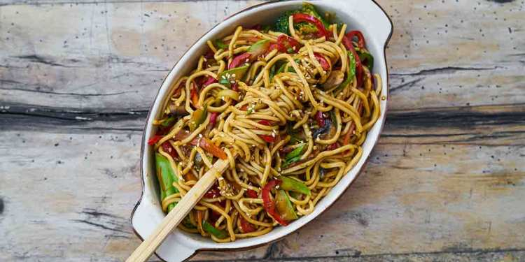chow mein Indian style recipe