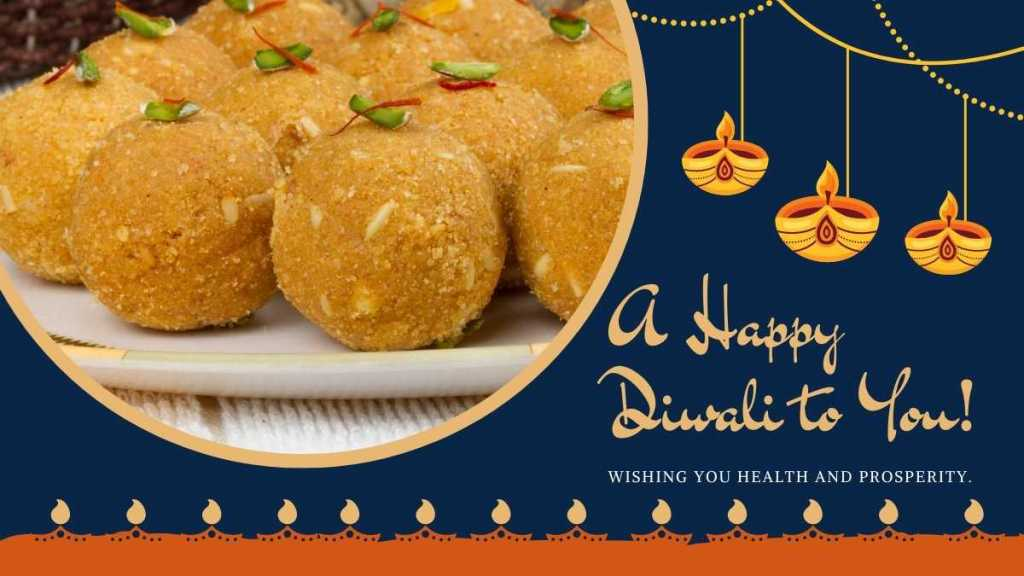 Besan Laddoo for Diwali celebration
