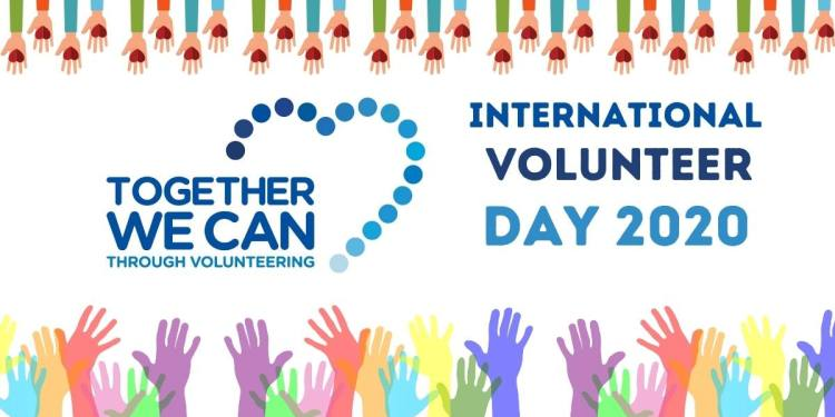 """""""Together We Can Through Volunteering"""" is the Theme of this years International Volunteers Day 2020"""