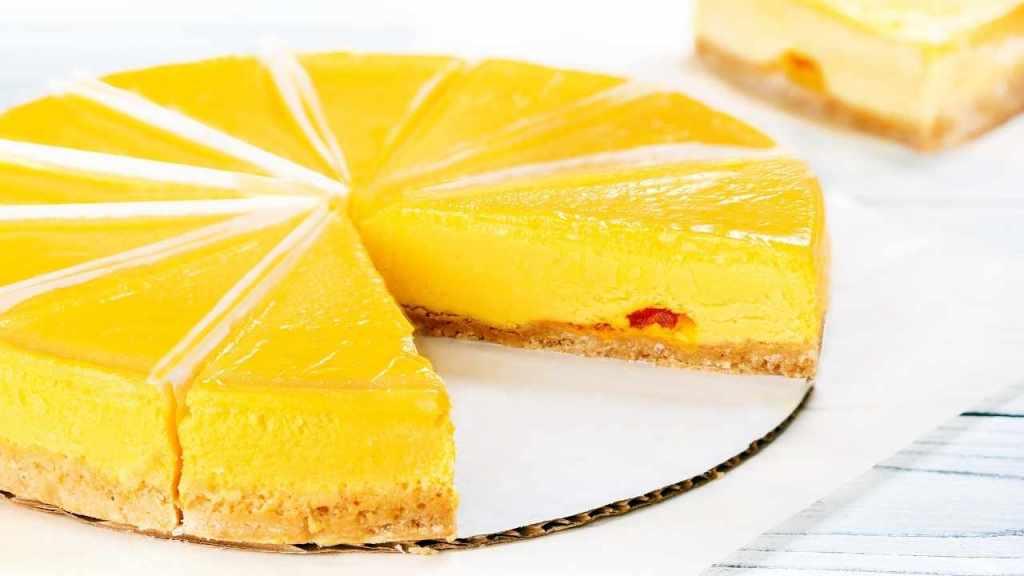 Chilled Mango Cheesecake