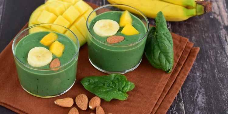 Summer Season Recipe - Mango Almond Green Smoothie