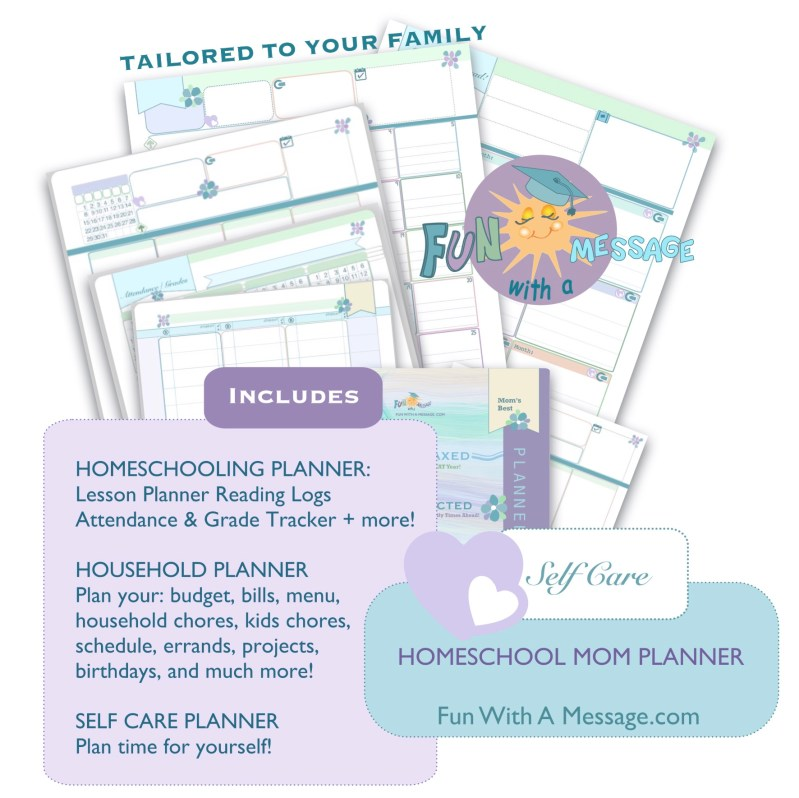 HOMESCHOOL MOM PLANNER HAS EVERYTHING FOR HOME AND SCHOOL PLANNING