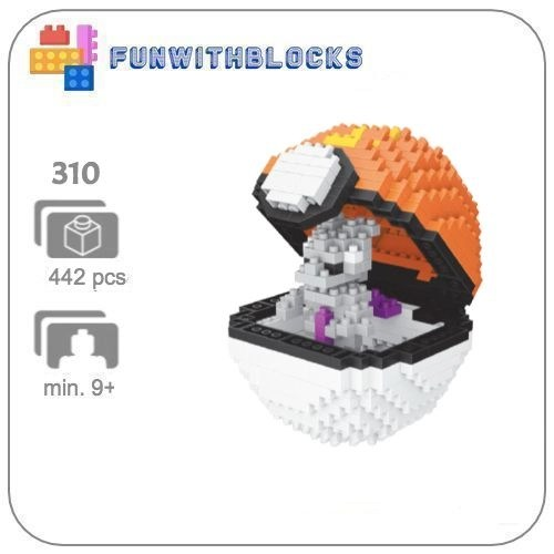 LNO Pokeball Mewtwo - 442 minibricks