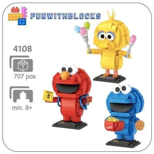LOZ Sesamstraat miniblock - 707 mini blocks