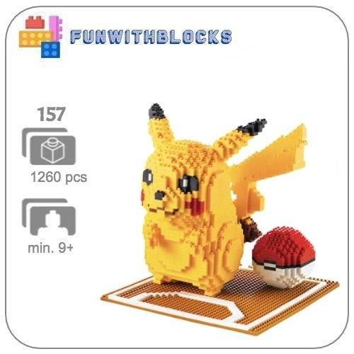Wise Hawk Pikachu - 1260 miniblocks