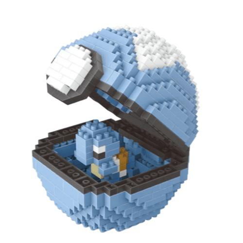 Wise Hawk Pokeball Squirtle miniblock - Pokémon - 399 mini blocks