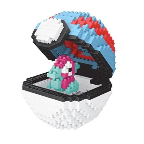 Wise Hawk Pokeball Porygon miniblock - Pokémon - 430 mini blocks