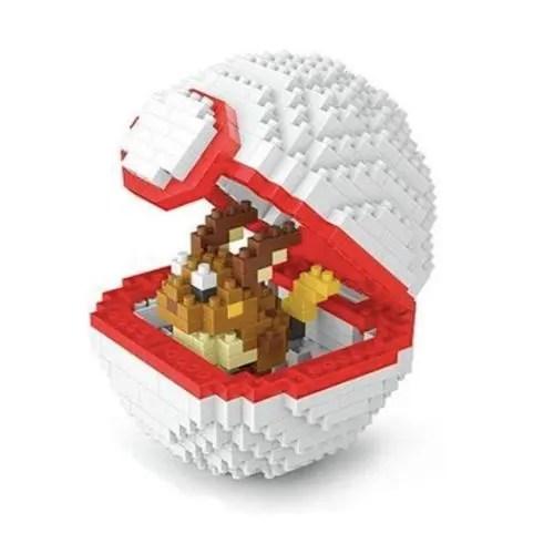 Wise Hawk Pokeball Raichu miniblock - Pokémon - 440 mini blocks