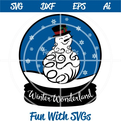 Snowglobe Snowman SVG Cut File