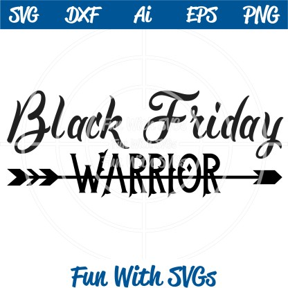 Black Friday Warrior SVG Image