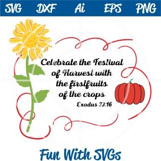 Harvest Festival, Exodus 23:16 SVG Image