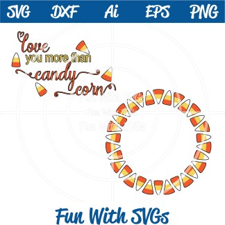 Candy Corn Monogram SVG Image
