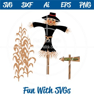 Harvest Scarecrow Autumn SVG Files Scarecrow Image
