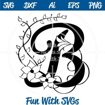 Letter B Monogram SVG File