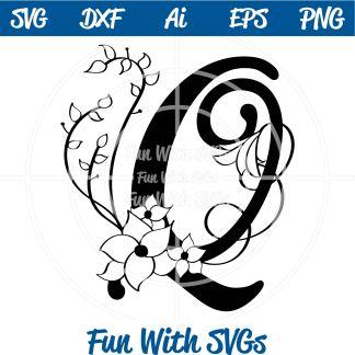 Letter Q Monogram SVG Image