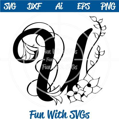 Letter U Monogram SVG Image