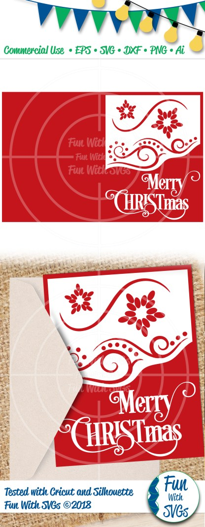 Merry Christmas Greeting Card SVG Image