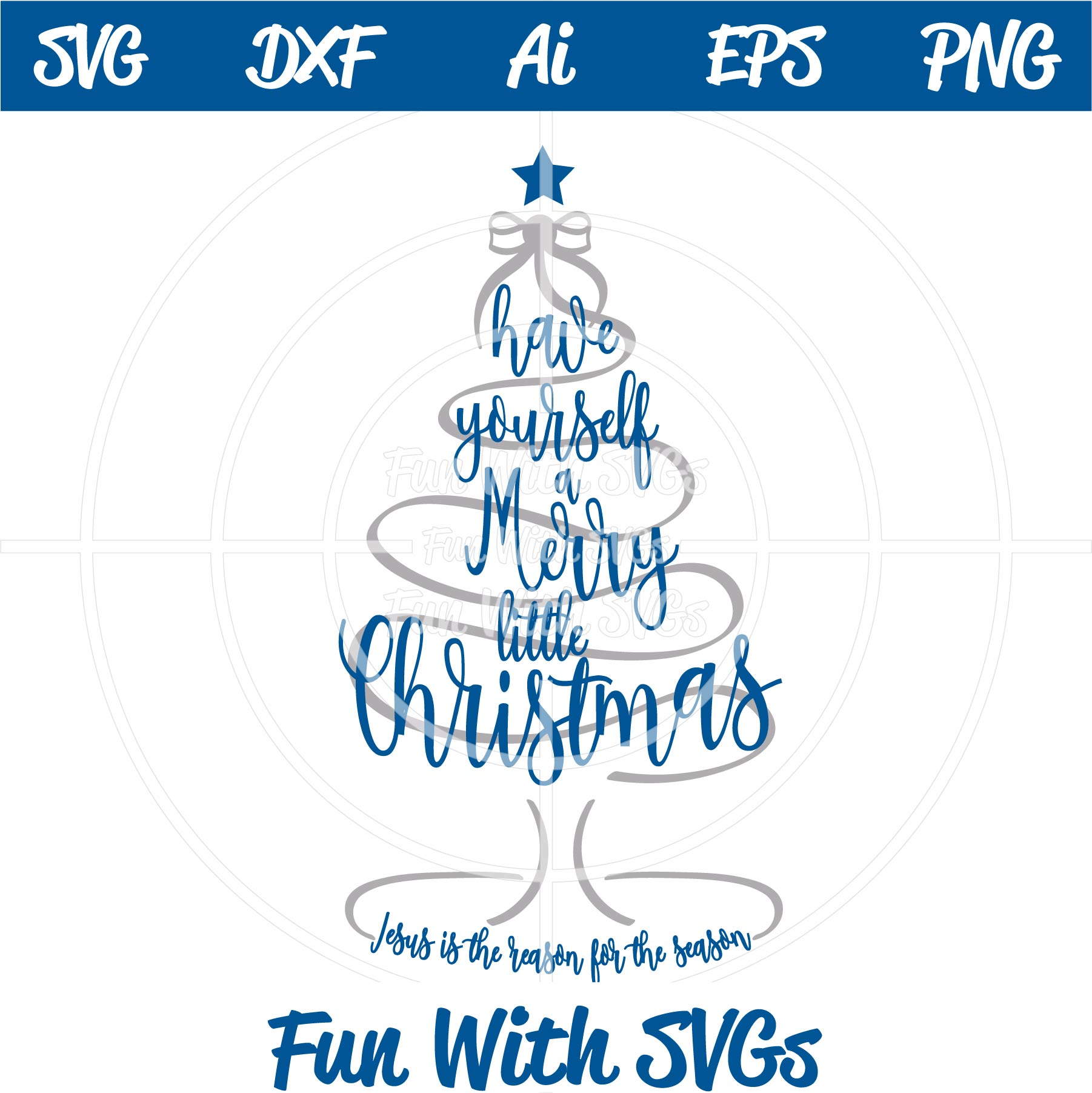 Merry Little Christmas.Merry Little Christmas Svg Cut File Fun With Svgs