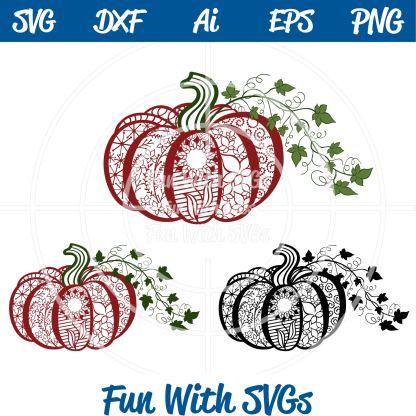 Zentangle Pumpkin SVG File Image