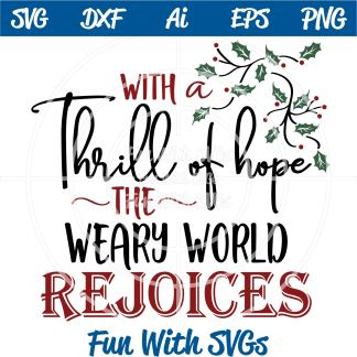 Rejoice Christian SVG Image