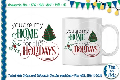 Home For the Holidays SVG Image