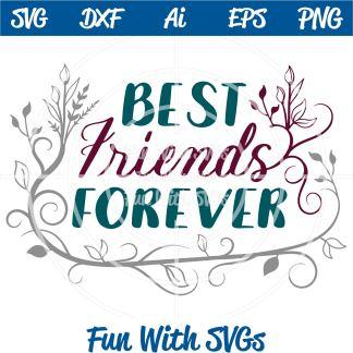 Best Friends Forever SVG Image