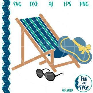 Summer Beach Chair SVG Cut File Image