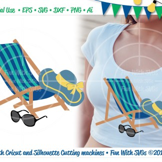 Summer Beach Chair SVG Cut File Project Idea Image