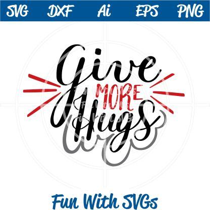 give mere hugs svg file image